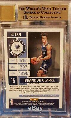 Brandon Clarke BGS 9.5/10 Contenders Rookie Playoff Ticket /99 #134 RC