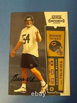 Brian Urlacher 2000 Playoff Contenders Autograph #103 Rookie RC Awesome Gradable