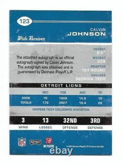 CALVIN JOHNSON 2007 PLAYOFF Contenders Rookie Ticket Autograph #123 Auto Signed
