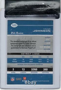 Calvin Johnson 2007 Playoff Contenders Rookie Ticket Auto Rc Bgs Rcr Mint 9/10