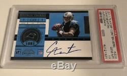 Cam Newton Panthers 2011 Playoff Contenders Rookie Ticket RC PSA 10 Auto! WOW