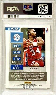 Charles Barkley 2018 Contenders Historic Rookie Playoff Ticket Autograph Psa 10