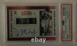 DK Metcalf 2019 Contenders DP Rookie Auto Playoff Ticket 15/18 Graded Mint 9