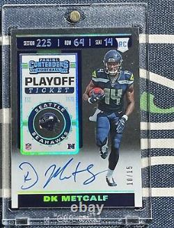 DK Metcalf 2019 Contenders PLAYOFF TICKET #10/15 RC Rookie Card Autograph AUTO