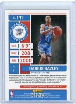 Darius Bazley Panini Contenders Rookie Playoff Ticket Auto /99 RC OKC Thunder ES