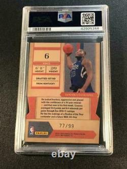 Demarcus Cousins 2010 Contenders Rookie Of The Year Die Cut Gold /99 Psa 10