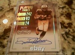 Derrick Henry 2016 Panini Contenders 21/25 Auto Rookie Playoff Ticket Titans