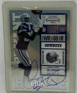 Dez Bryant 2010 Panini Playoff Contenders Rookie Ticket On Card Auto Rc