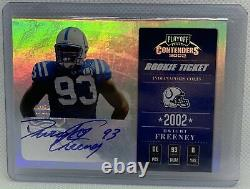 Dwight Freeney 2002 Playoff Contenders Rookie Ticket Auto Rc #d 219/410