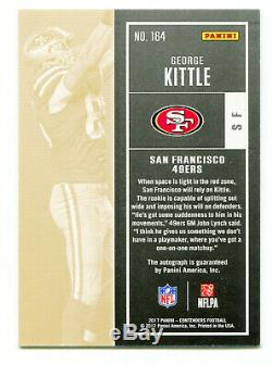GEORGE KITTLE 2017 Panini Contenders Playoff Rookie Ticket RC Auto Card SP 53/99