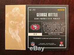 George Kittle 2017 Contenders Rookie Playoff Ticket Autograph VAR #41/49 Auto SP
