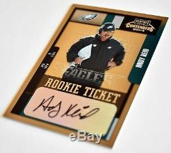 HOF INVEST 2004 Contenders ANDY REID Rookie Ticket CHIEFS Super Bowl Auto EAGLES