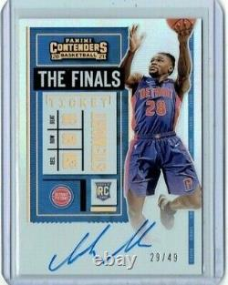 Isaiah Stewart 2020-21 Playoff Contenders Silver Rookie Auto/Autograph /49