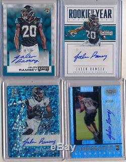JALEN RAMSEY 2016 Lot 4pc Spectra, Gala Contenders & Playoff /25 AUTOs Jaguars