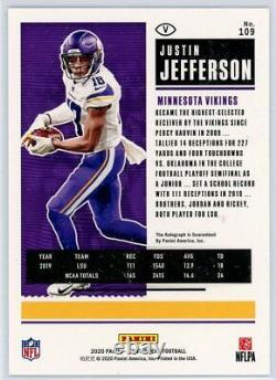 JUSTIN JEFFERSON 2020 Panini Contenders Playoff Ticket Rookie Card RC Auto 37/49