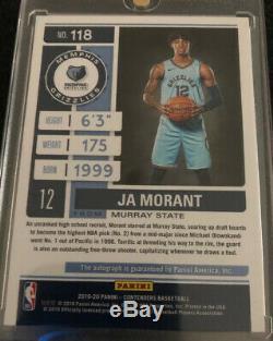 Ja Morant Rookie 2019-20 Contenders Playoff Ticket On Card Variation Auto 86/99