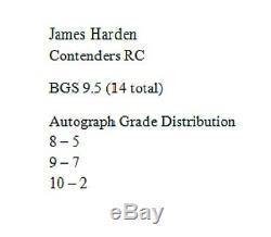 James Harden 09-10 Playoff Contenders #103 AUTO RC Pop 14 Gem Mint BGS 9.5