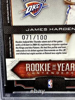 James Harden 2009-10 Playoff Contenders Rookie Of The Year GOLD /100 PSA 9 POP 1