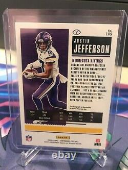Justin Jefferson 2020 Panini Contenders Rookie Auto PLAYOFF RC #D /49 Vikings RC