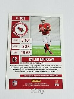 KYLER MURRAY 2019 Contenders on card AUTO Playoff Ticket 02/25 RC Please Read