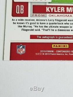 KYLER MURRAY 2019 Contenders on card AUTO Playoff Ticket 2/25 RC Condition issue