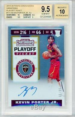 Kevin Porter Jr BGS 9.5 Auto 10 2019-20 Contenders Playoff Ticket Auto 5/99