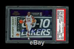 Kobe Bryant 2009-10 Contenders Playoff Ticket Auto 24/50 Jersey # 1/1 Psa 10