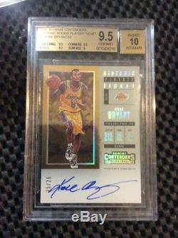 Kobe Bryant 2017-18 Contenders Historic Rookie Playoff Ticket Auto /25 Bgs 9.5