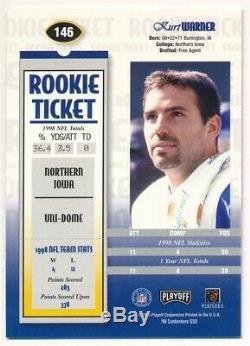 Kurt Warner 1999 Playoff Contenders Rc Rookie Ticket Autograph Rams Auto Sp