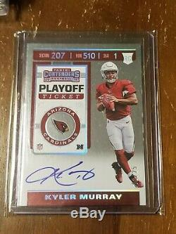 Kyler Murray 2019 Contenders /25 Playoff Ticket On-Card Auto Rookie Cardinals