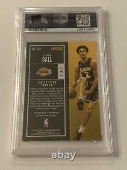 Lonzo Ball 2017-18 Panini Contenders Vertical Auto RC Playoff Ticket /66 PSA 9