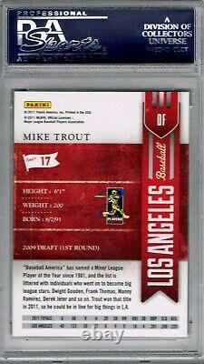 MIKE TROUT 2011 Playoff Contenders #17 PSA 10 PERFECT ROOKIE RC