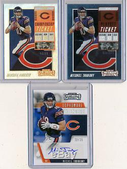 MITCH TRUBISKY 2018 Contenders Sophmore AUTO /25 Playoff & Championship Tickets