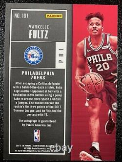 Markelle Fultz 2017-18 Panini Contenders Playoff Rookie Ticket Foil Auto /65