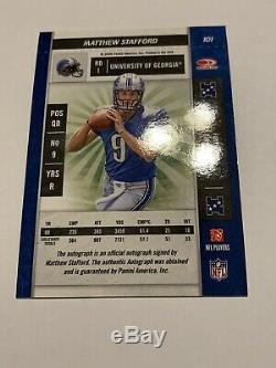 Matthew Stafford Lions 2009 Panini Playoff Contenders RC Rookie Ticket Auto
