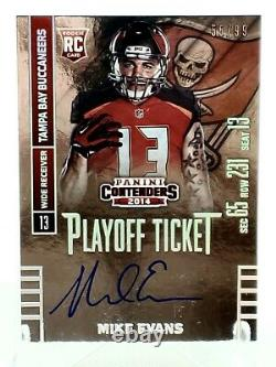 Mike Evans 2014 Playoff Ticket Contenders Autograph RC Rookie Auto 55/99 READ