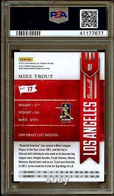 Mike Trout Rookie Card 2011 Playoff Contenders #17 PSA 10