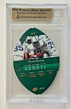 PEYTON MANNING1998 PLAYOFF ROOKIE CONTENDERS LEATHER BGS-9.5 with 10 SUB RC #37