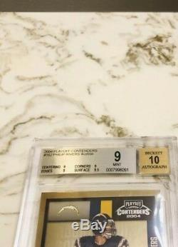 PHILIP RIVERS 2004 Playoff Contenders RC Rook Ticket Auto SP/556 BGS 9 TRUE MINT