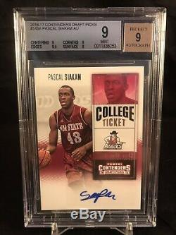 Pascal Siakam Rookie Auto Contenders Draft Picks 2016-17 Playoff Investment