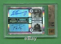 Philip Rivers 2004 Contenders Round Numbers Auto Eli Manning Bgs 9.5/10 Rc 8/100