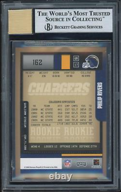 Philip Rivers 2004 Playoff Contenders /556 #162 BGS 9 Rookie Auto