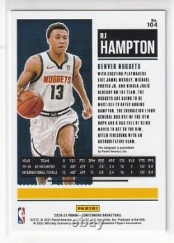 RJ Hampton 2020-21 Panini Contenders Playoff Rookie Ticket Auto /99