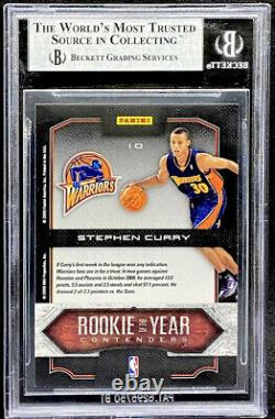 Stephen Curry 2009-10 Playoff Contenders Rookie Of The Year #10 BGS 9 POP 12