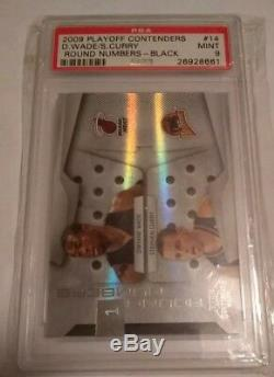 Stephen Curry/dwayne Wade 2009 Playoff Contenders Rookie Black /50 Psa 9