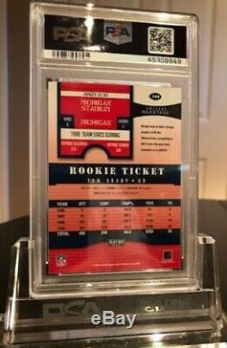 Tom Brady Rc 2000 Playoff Contenders Auto #144 Rookie Ticket Autograph Psa 7