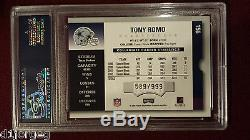 Tony Romo 2003 Panini Playoff Contenders Season Ticket Auto RC 589/999 PSA 9 Mt