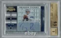 Tony Romo 2003 Playoff Contenders #156 Auto 999 Made Rookie Card BGS 9.5
