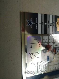 Tony Romo Dallas Cowboys 2003 Playoff Contenders #156 AUTO RC Serial # 881/999