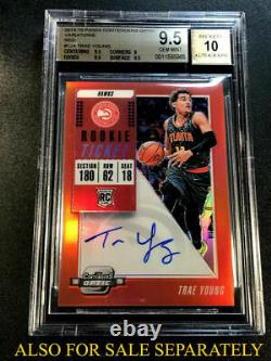 Trae Young 2018 Contenders #142 Playoff Ticket Variation Auto Rc 33/35 Bgs 9 10